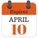 Expires April 10
