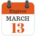 Expires March 13